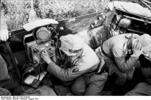 Russland, Funker in gepanzertem Fahrzeug